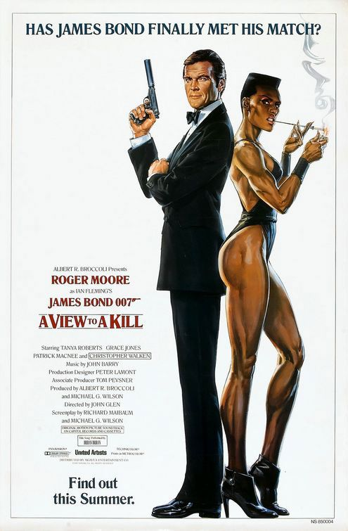 James Bond 007 A View To A Kill Poster