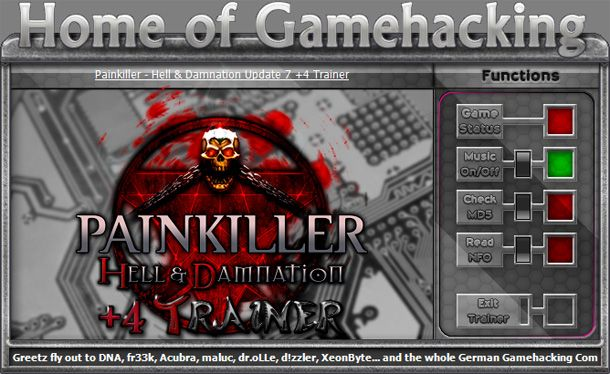 Painkiller: Hell and Damnation 1.3-1.7 +4 Trainer [HoG]