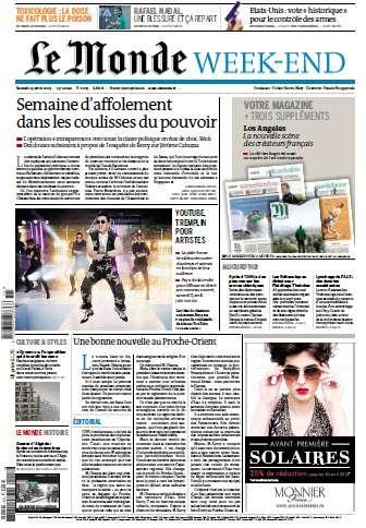 Le Monde Week-End Samedi 13 Avril 2013