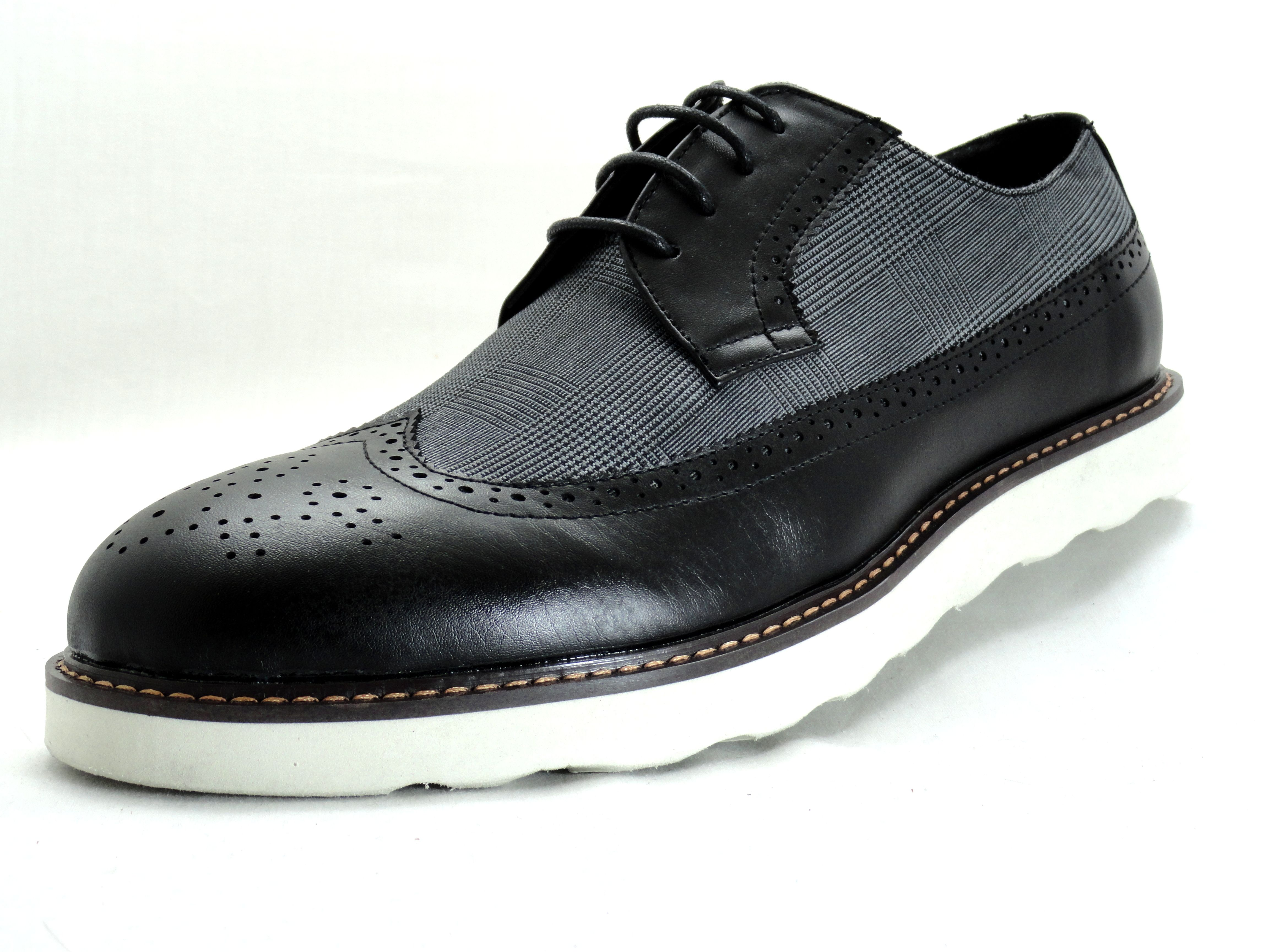 mens dress shoes imarc black oxford lace up with plaid