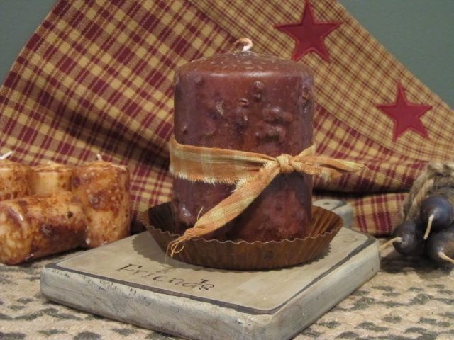 Primitive Country Rustic Grubby Grungy 4 Quot Pillar Candle